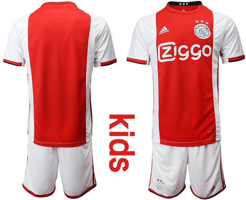 Youth 2019-2020 club AFC Ajax home red Soccer Jerseys