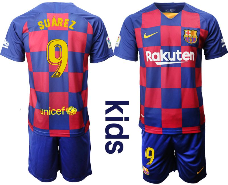 Youth 2019-2020 club Barcelona home 9 red Soccer Jerseys