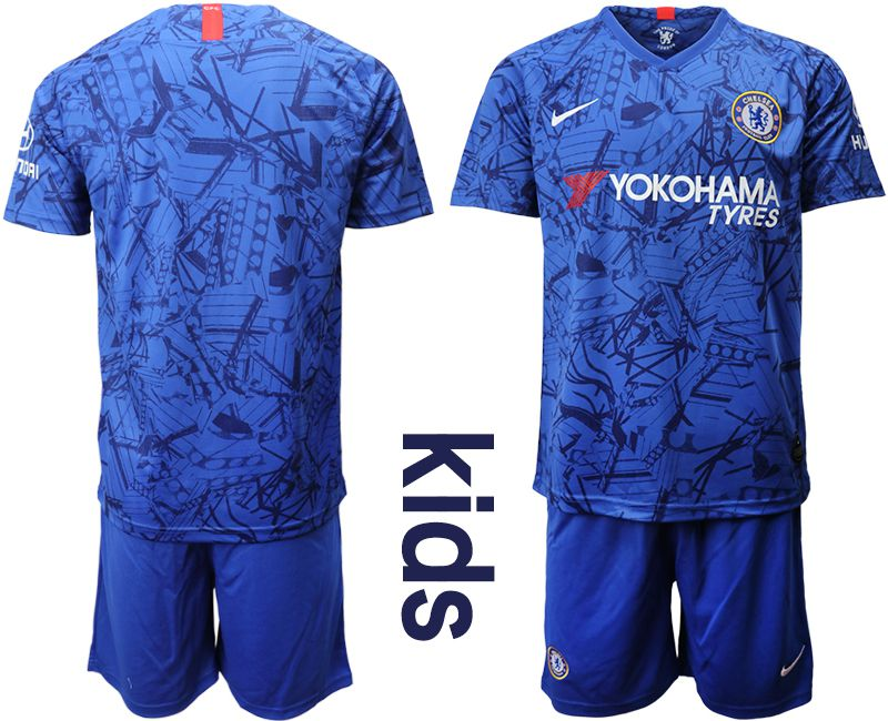 Youth 2019-2020 club Chelsea FC home blue Soccer Jerseys