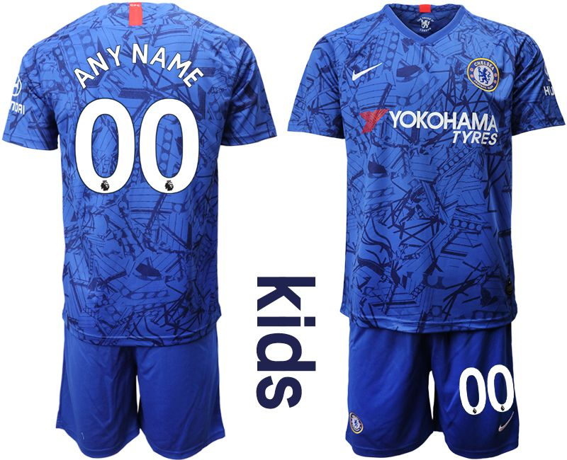Youth 2019-2020 club Chelsea FC home customized blue Soccer Jerseys