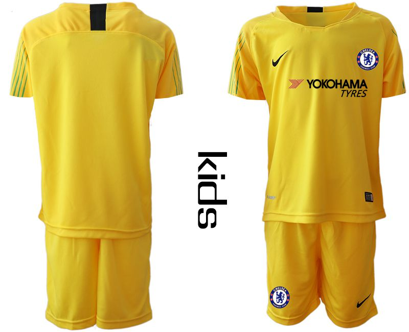 Youth 2019-2020 club Chelsea yellow goalkeeper Soccer Jerseys