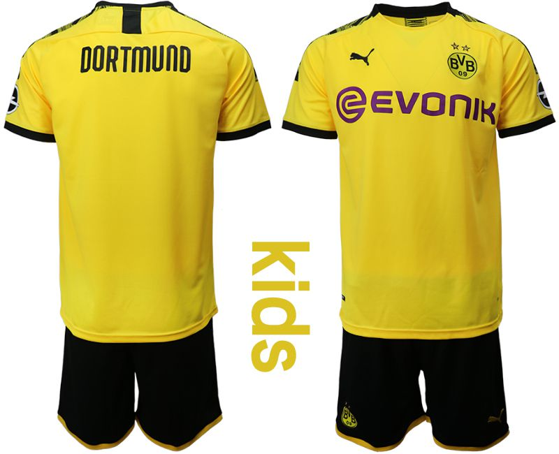 Youth 2019-2020 club Dortmund home yellow Soccer Jerseys