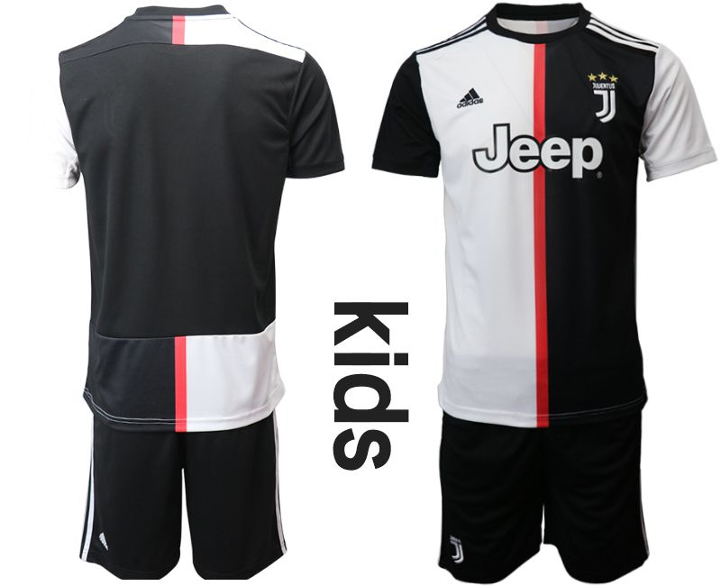 Youth 2019-2020 club Juventus FC home black Soccer Jerseys