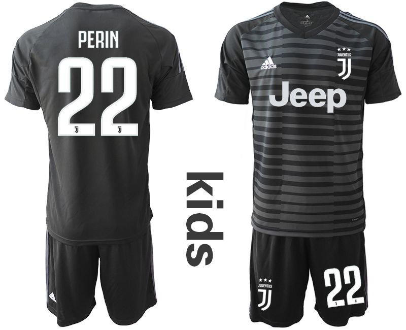 Youth 2019-2020 club Juventus black goalkeeper 22 Soccer Jerseys1