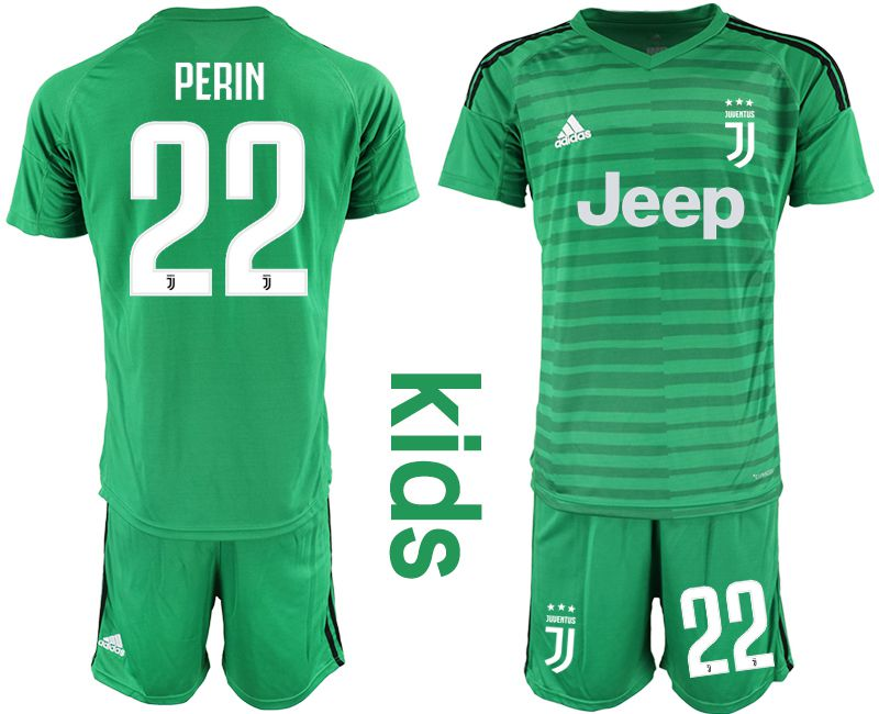 Youth 2019-2020 club Juventus green goalkeeper 22 Soccer Jerseys