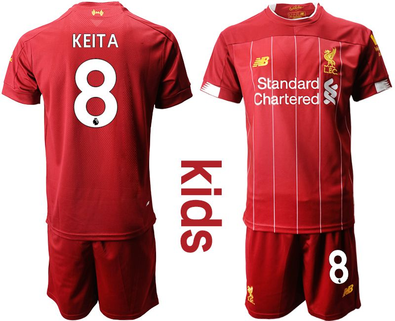 Youth 2019-2020 club Liverpool home 8 red Soccer Jerseys