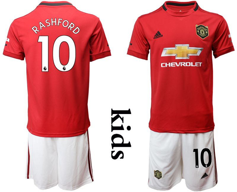 Youth 2019-2020 club Manchester United home 10 red Soccer Jerseys