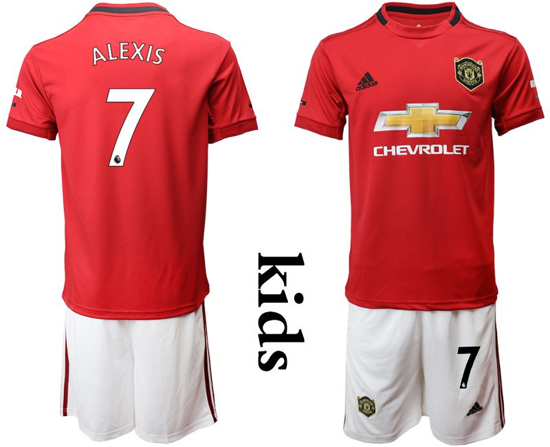 Youth 2019-2020 club Manchester United home 7 red Soccer Jerseys
