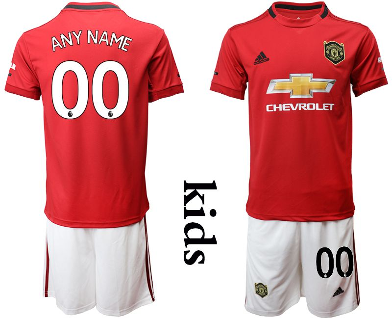Youth 2019-2020 club Manchester United home customized red Soccer Jerseys