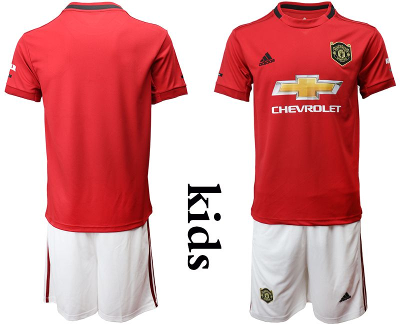 Youth 2019-2020 club Manchester United home red Soccer Jerseys