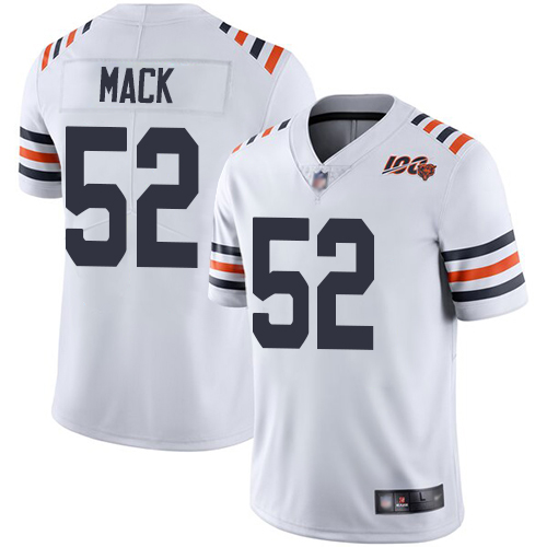 Youth Chicago Bears 52 Mack White 100th Anniversary Nike Vapor Untouchable Player NFL Jerseys