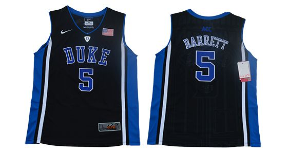 Youth Duke Blue Devils 5 Barrett Black Elite Nike NBA NCAA Jerseys