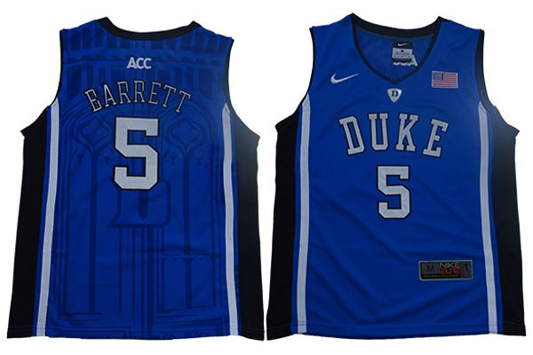 Youth Duke Blue Devils 5 Barrett Blue Nike NBA NCAA Jerseys