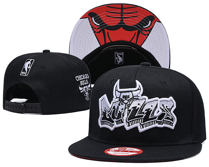 2019 NBA Chicago Bulls 4 Snapback hat