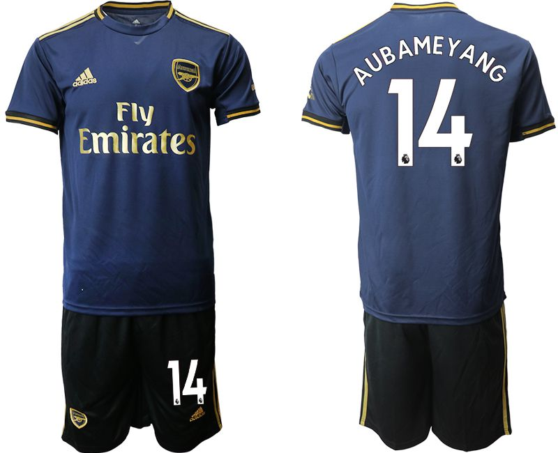Men 2019-2020 club Arsenal away 14 blue Soccer Jerseys