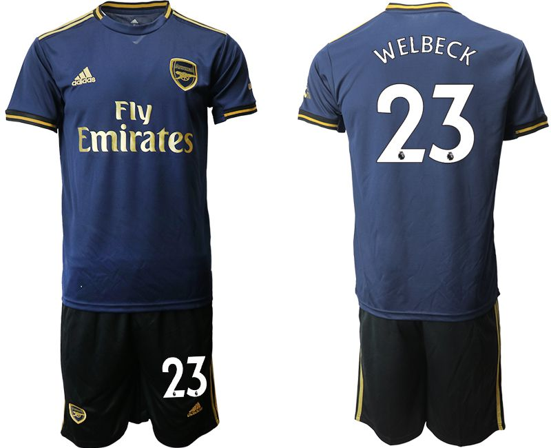 Men 2019-2020 club Arsenal away 23 blue Soccer Jerseys