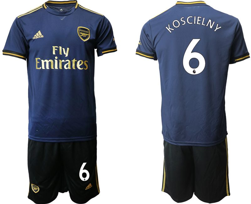 Men 2019-2020 club Arsenal away 6 blue Soccer Jerseys