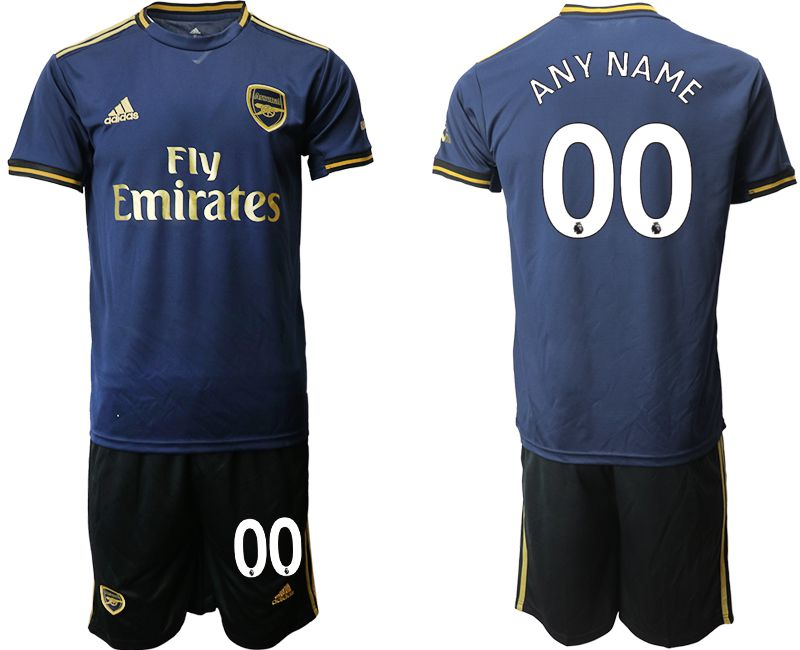 Men 2019-2020 club Arsenal away customized blue Soccer Jerseys
