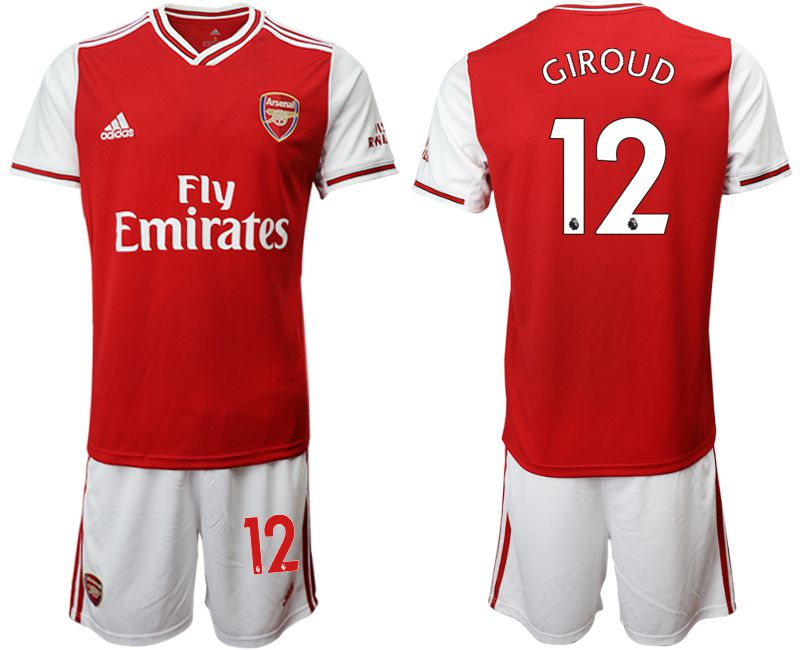 Men 2019-2020 club Arsenal home 12 red Soccer Jerseys