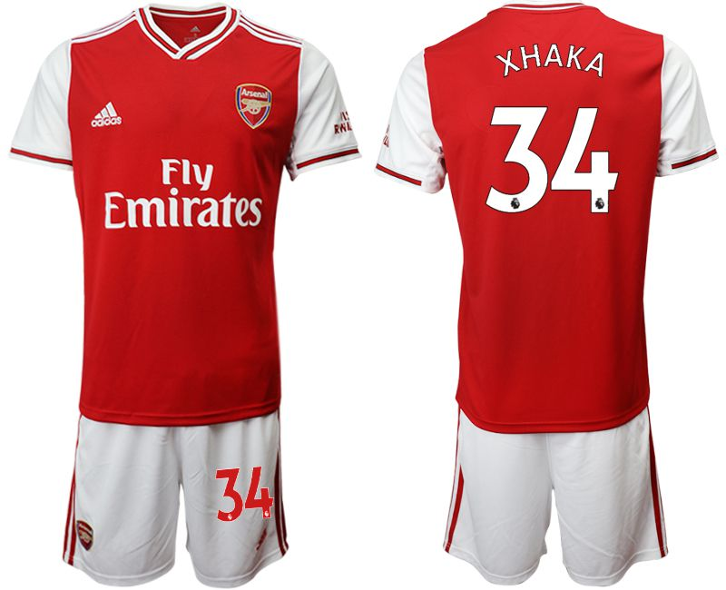 Men 2019-2020 club Arsenal home 34 red Soccer Jerseys