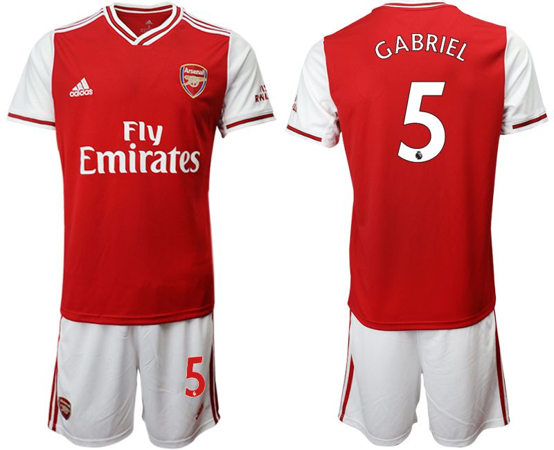 Men 2019-2020 club Arsenal home 5 red Soccer Jerseys