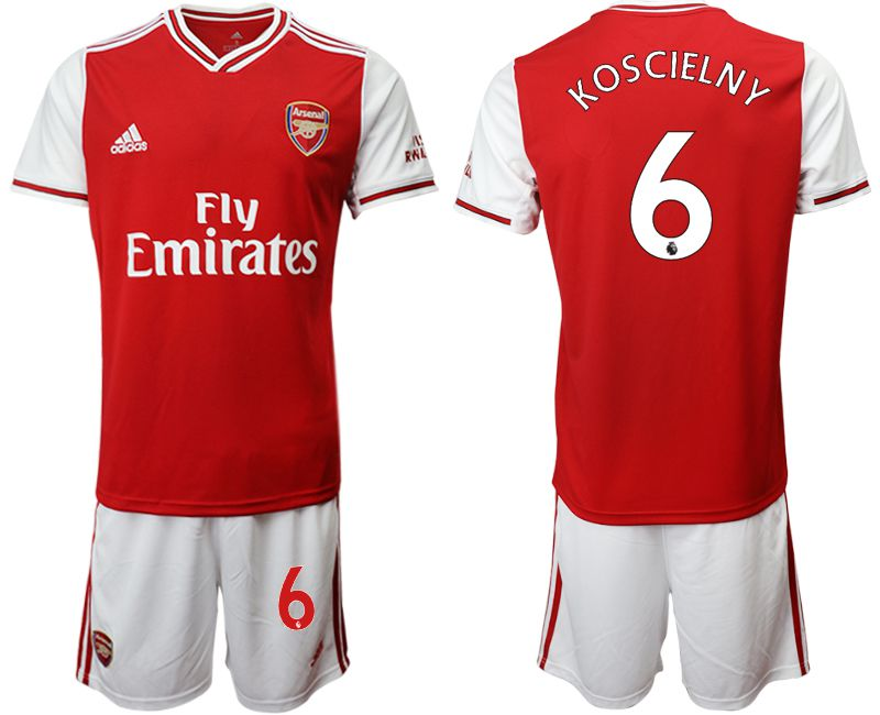 Men 2019-2020 club Arsenal home 6 red Soccer Jerseys