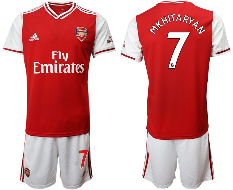 Men 2019-2020 club Arsenal home 7 red Soccer Jerseys