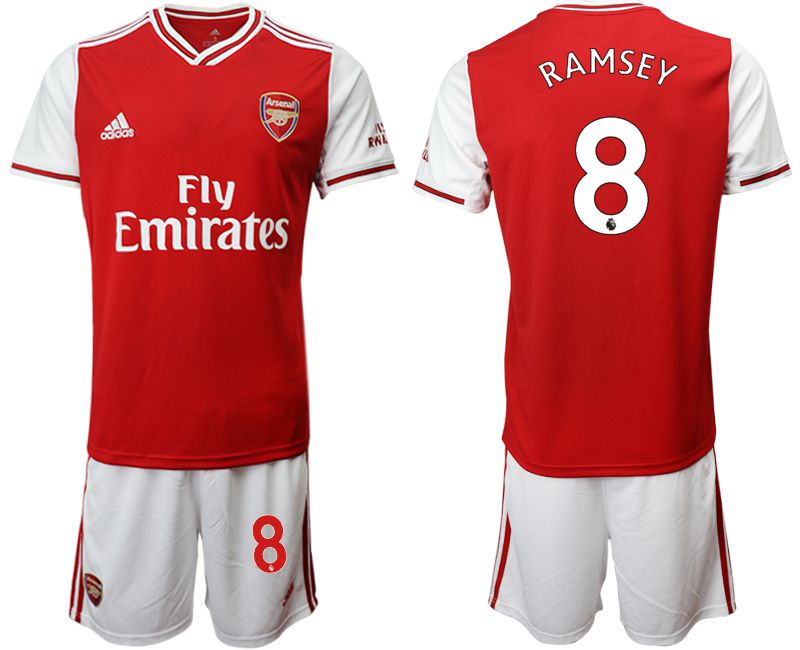 Men 2019-2020 club Arsenal home 8 red Soccer Jerseys