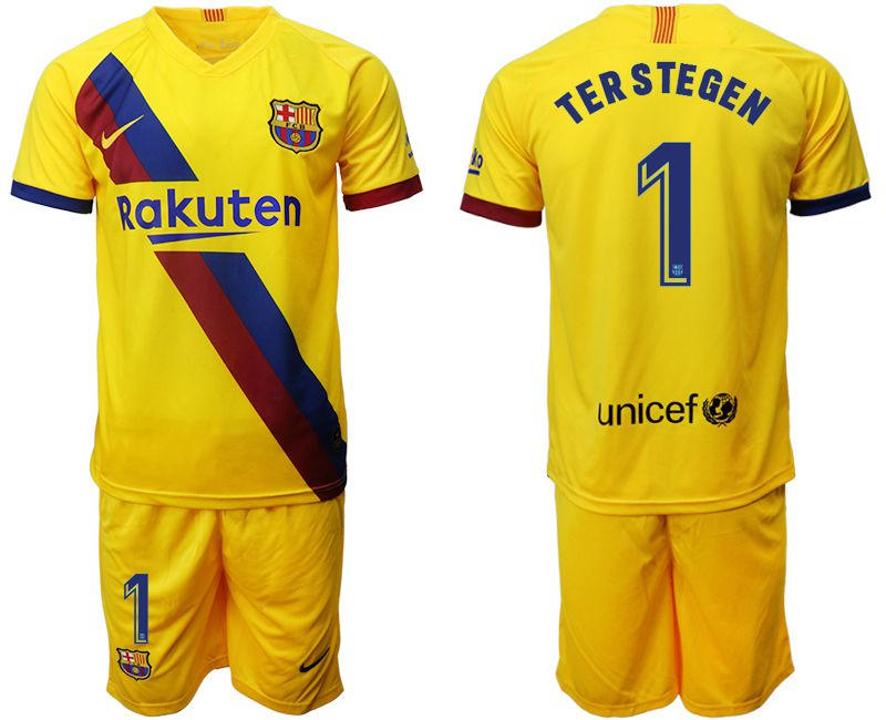 Men 2019-2020 club Barcelona away 1 yellow Soccer Jerseys