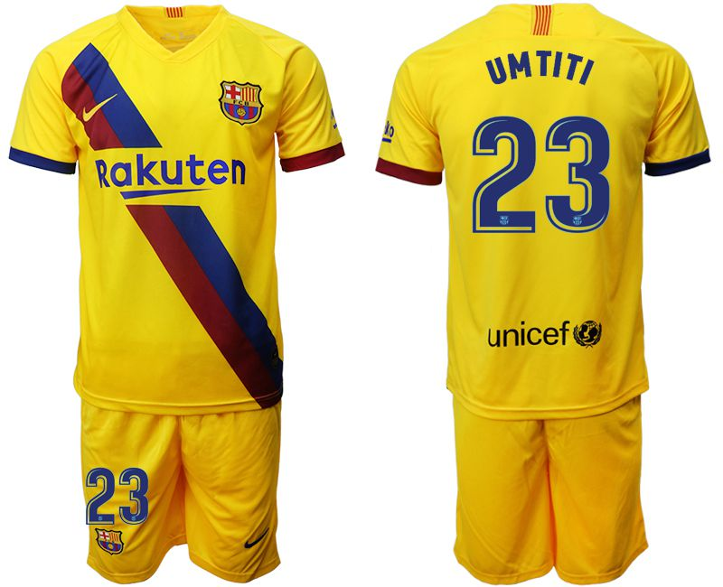 Men 2019-2020 club Barcelona away 23 yellow Soccer Jerseys