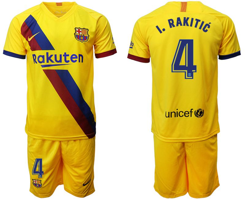 Men 2019-2020 club Barcelona away 4 yellow Soccer Jerseys