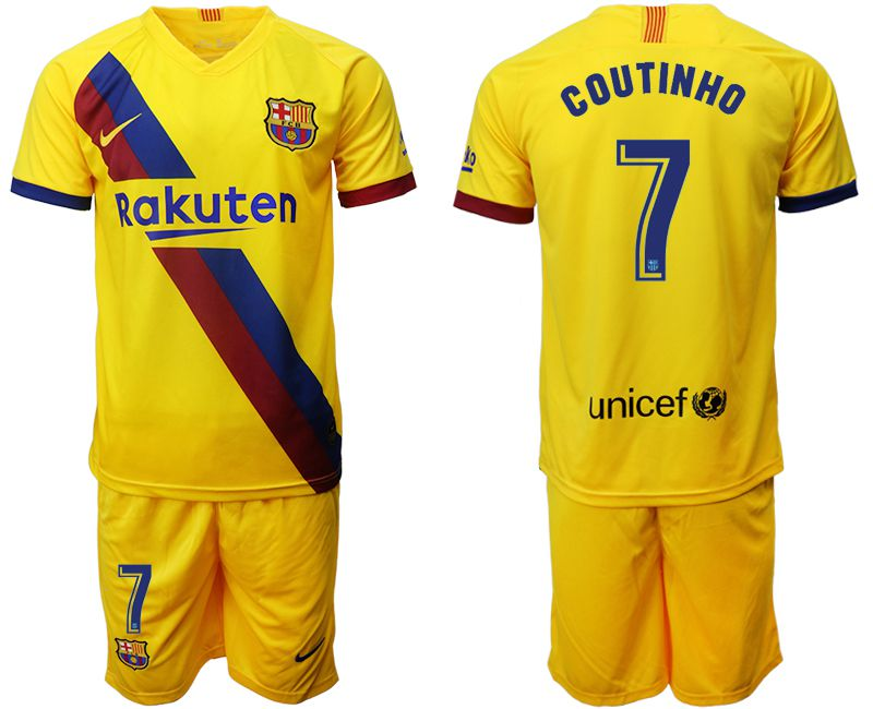 Men 2019-2020 club Barcelona away 7 yellow Soccer Jerseys
