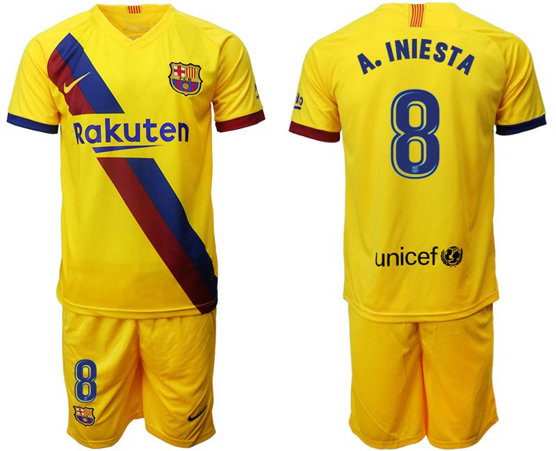 Men 2019-2020 club Barcelona away 8 yellow Soccer Jerseys