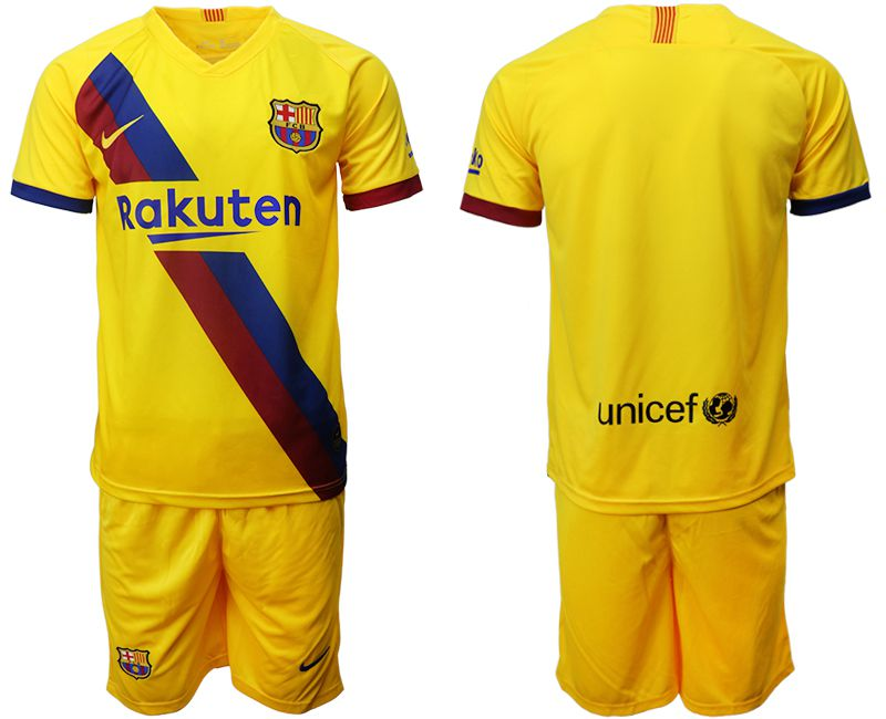 Men 2019-2020 club Barcelona away yellow Soccer Jerseys