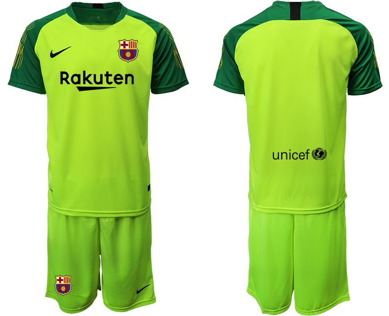 Men 2019-2020 club Barcelona fluorescent green goalkeeper Soccer Jerseys