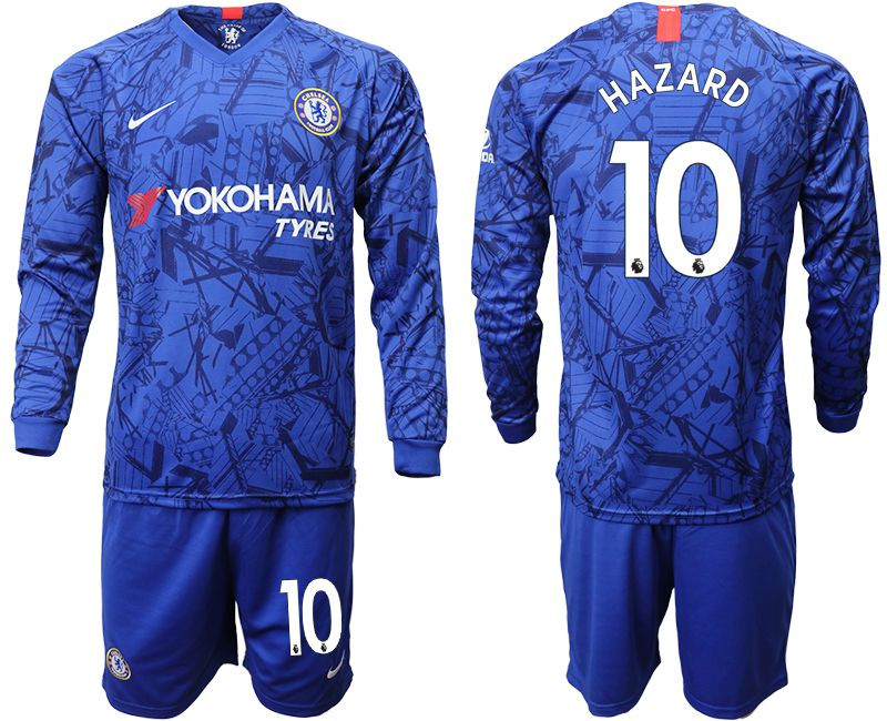 Men 2019-2020 club Chelsea ahome Long sleeve 10 blue Soccer Jerseys