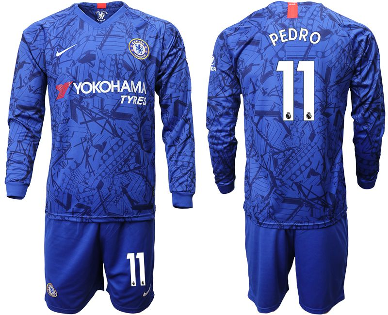 Men 2019-2020 club Chelsea ahome Long sleeve 11 blue Soccer Jerseys