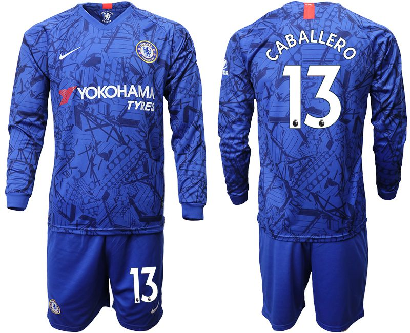 Men 2019-2020 club Chelsea ahome Long sleeve 13 blue Soccer Jerseys