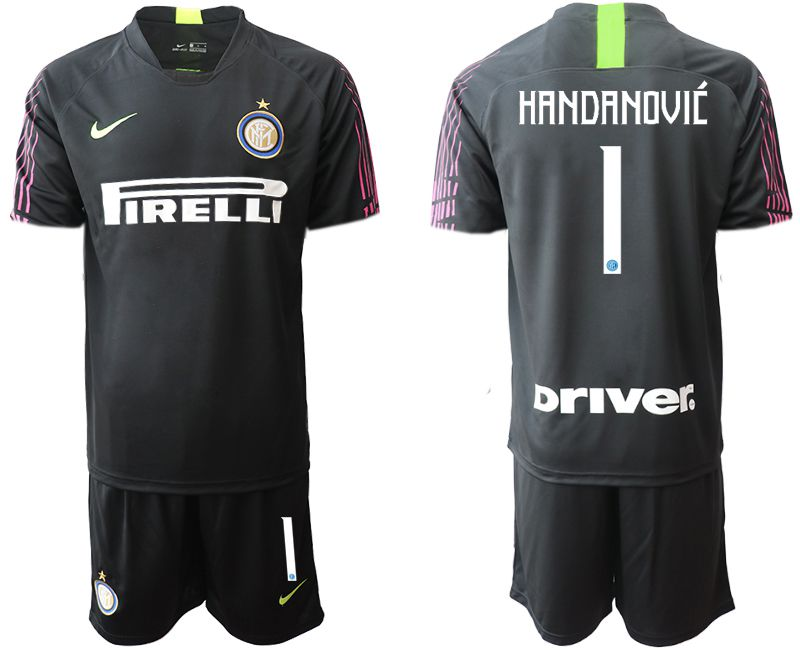 Men 2019-2020 club Inter Milan black goalkeeper 1 Soccer Jerseys