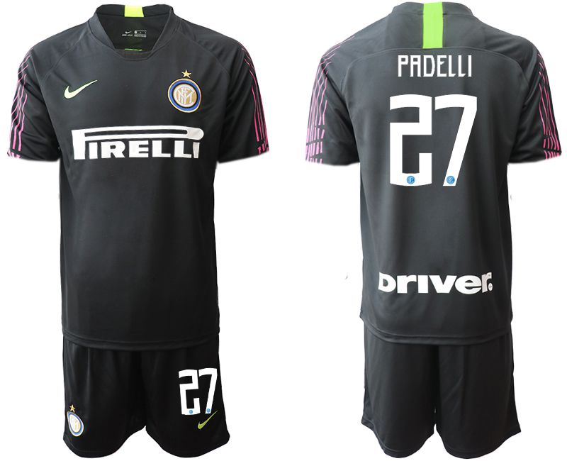 Men 2019-2020 club Inter Milan black goalkeeper 27 Soccer Jerseys