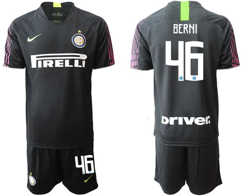 Men 2019-2020 club Inter Milan black goalkeeper 46 Soccer Jerseys