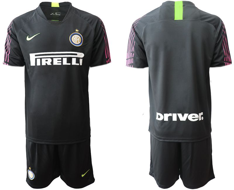 Men 2019-2020 club Inter Milan black goalkeeper Soccer Jerseys