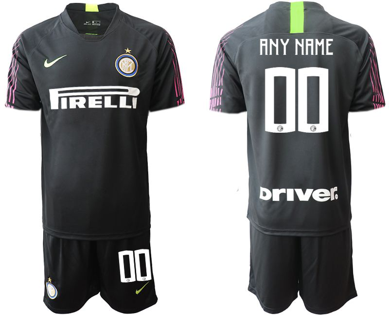 Men 2019-2020 club Inter Milan black goalkeeper customized Soccer Jerseys