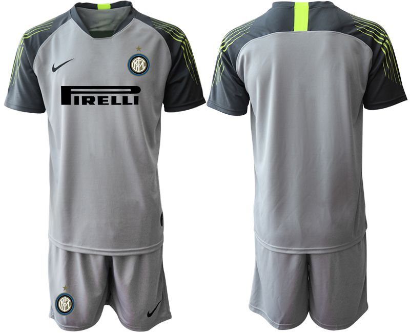 Men 2019-2020 club Inter Milan gray goalkeeper Soccer Jerseys