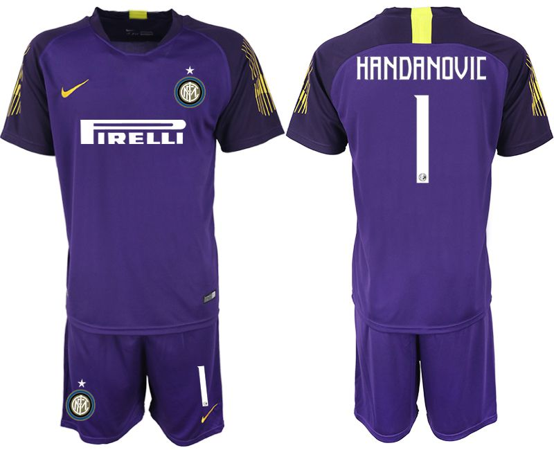 Men 2019-2020 club Inter Milan purple goalkeeper 1 Soccer Jerseys
