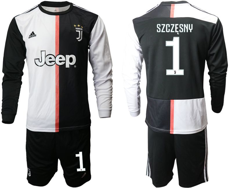 Men 2019-2020 club Juventus home long sleeves 1 black Soccer Jerseys1