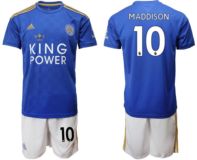 Men 2019-2020 club Leicester City home 10 blue Soccer Jerseys