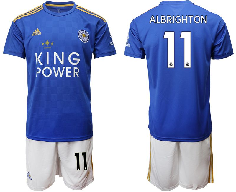 Men 2019-2020 club Leicester City home 11 blue Soccer Jerseys