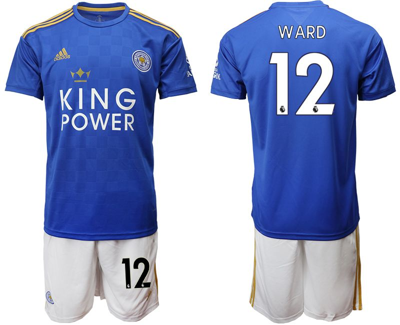 Men 2019-2020 club Leicester City home 12 blue Soccer Jerseys