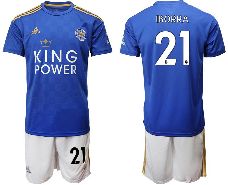 Men 2019-2020 club Leicester City home 21 blue Soccer Jerseys